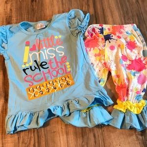 New Little Miss Rule the School Boutique outfit